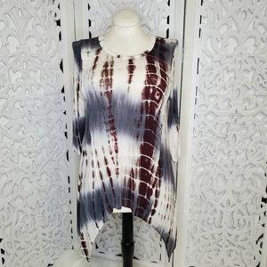 Love Western Cowgirl Tie Dye Shark Bite Tunic M/L